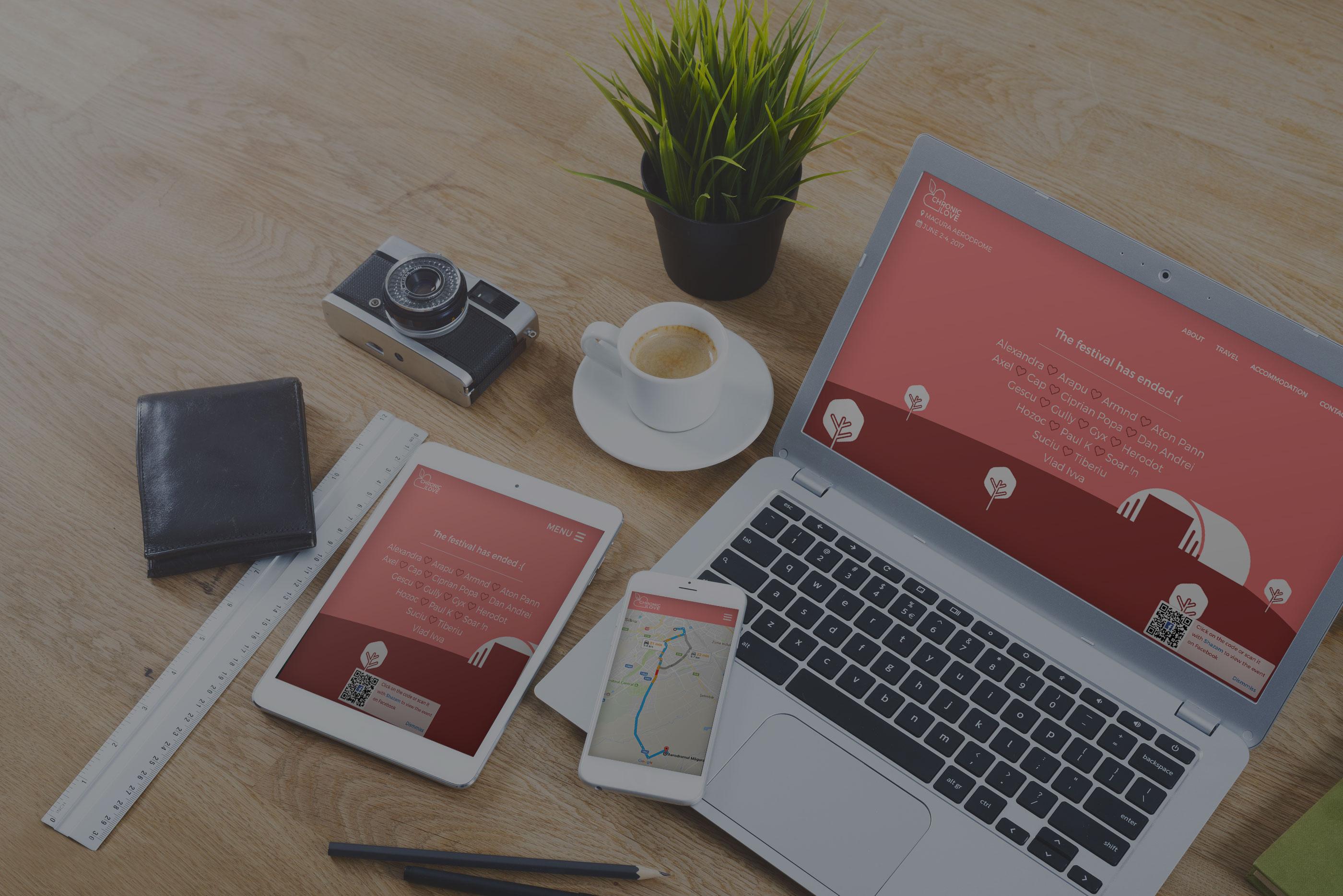 Web Design for Chronic Love Festival