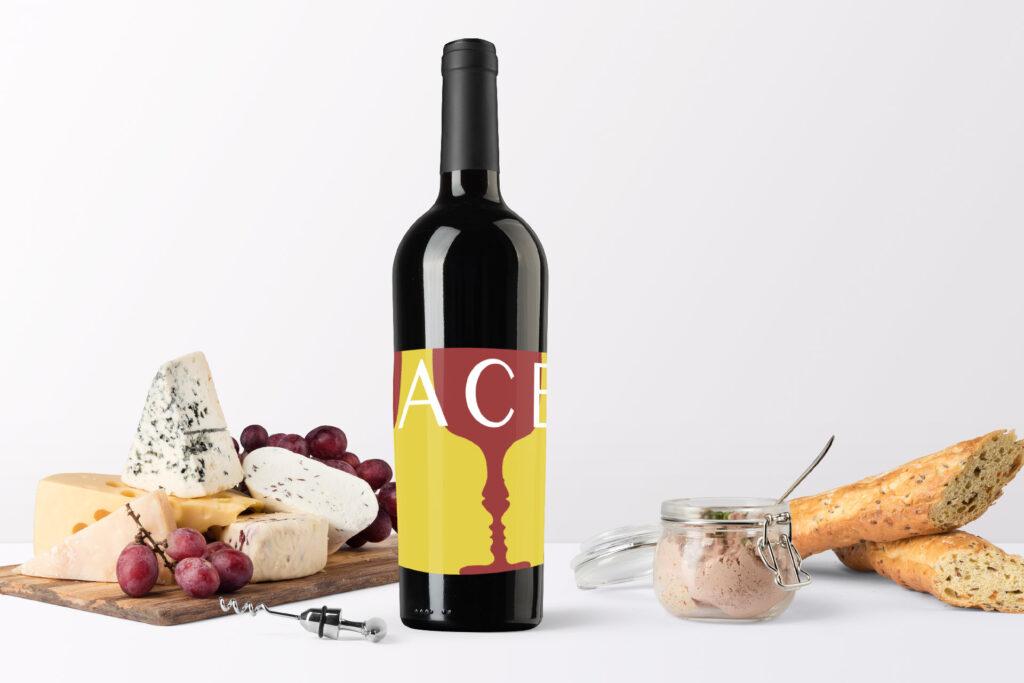 ''Faces'' Wine Label